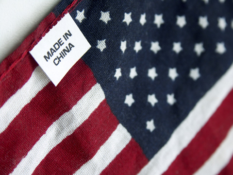 US flag 'made in China'