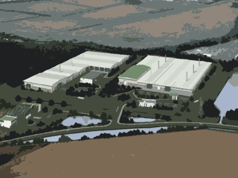 Peterborough Renewable Energy Park (artist's impression)
