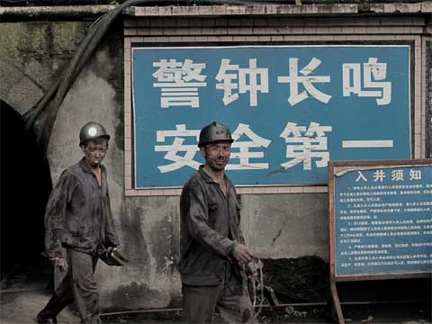 Coal mining in China