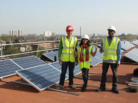 Solar power in Brixton