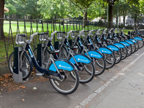 Boris bikes in London