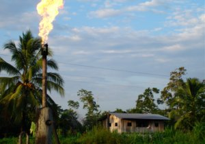 Oil drilling in the Amazon