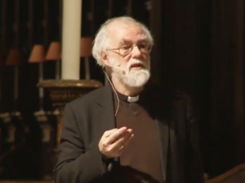 Rowan Williams speaking at St Pauls.