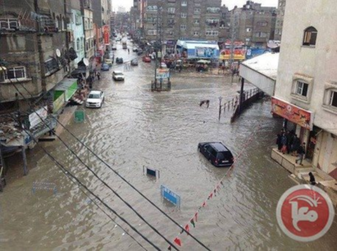 15 residential areas of Gaza have been flooded by up to 2 metres of sewage contaminated floodwater.