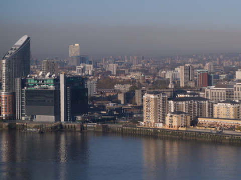 Polluted air over London, autumn 2012. Photo: shirokazan via Flickr.com.