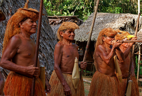 Yagua Indians in the Peruvian Amazon. Photo: chany crystal via Flickr.com.