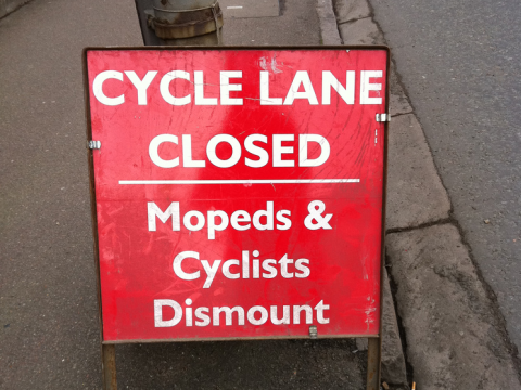 Cyclists dismount, and drivers get out and push. Photo: ned the head via Flickr.com