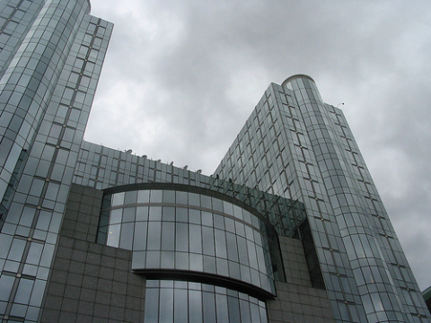 Bastion of democracy - or of neo-liberalism? The European Parliament building, Brussels. Photo: Alex.ch via Flickr.com.