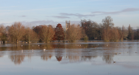 Flooding in Oxford. Photo: Tejvan Pettinger via Flickr.com.