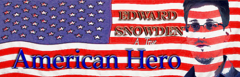 Edward Snowden - 'True American Hero'. Photo: Richard Loyal French via Flickr.com.