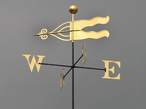 Weather vane, St Helen's Church, Norwich, UK. Photo: LEOL30 via Flickr.com.