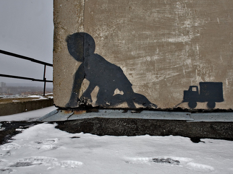In the Chernobyl / Pripyat Exclusion Zone, February 2008. Photo: Pedro Moura Pinheiro via Flickr.com.