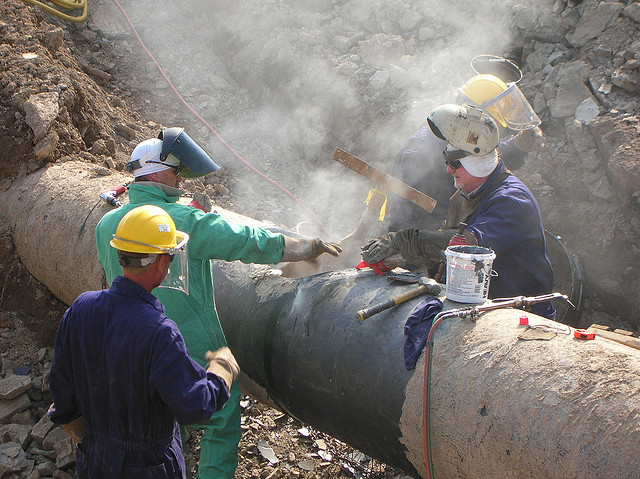 Can East-West relations be repaired as easily as this gas pipeline? Photo: Matthew Thorn via Flickr.com.