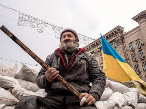 Would EU, Ukrainian and Russian peace-keepers be preferable? Photo: streetwrk.com, CC BY-ND.