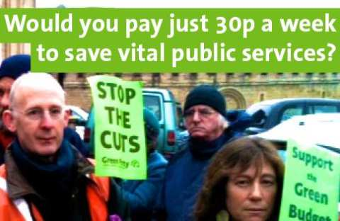would you spend 30p a week to save public services? If so, you should be voting green. Right: Elise Benjamin. Photo: Oxfordshire Green Party.