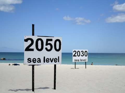 One prediction of where rising sea levels will end up at Cottesloe Beach, Perth Western Australia. Photo: Julie G via Flickr.