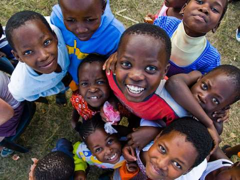 Children of Swaziland. Poor for sure - but to all appearances, very happy. Photo:  Crawford Learmonth via Flickr.