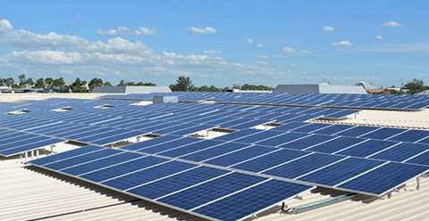 A Canadian Solar installation in NSW, Australia - the same company's panels are planned for the jenin Charitable Hospital in Gaza. Photo: Canadian Solar.