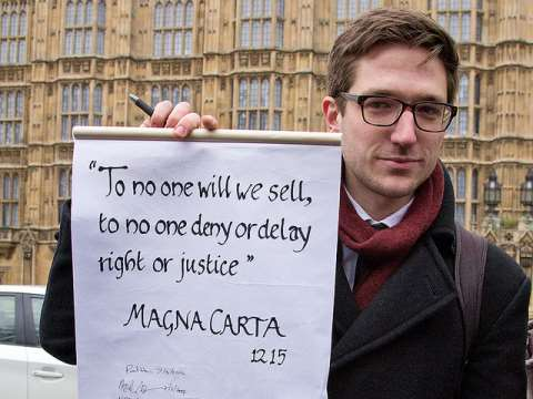 'To no one will we sell, to no one deny or delay right or justice.' Magna Carta. Photo: Chris Beckett via Flickr.