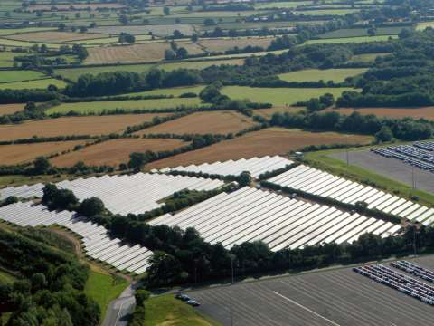 Toyota UK Solar Panel Array at its vehicle plant in Derbyshire. Photo: Toyota UK via Flickr.