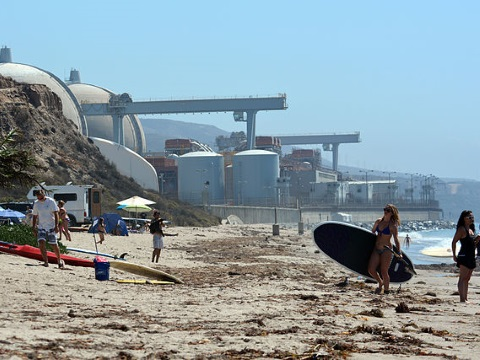 San Onofre Nuclear Generating Station, March 2013. Photo: D Ramey Logan / Wikimedia Commons.