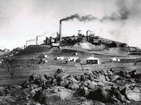 Even in the 19th century, lead from Broken Hill smelters was polluting Antarctica. NSW Records Office, CC BY.