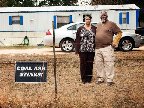 William Gibbs and his wife live near the massive coal ash dump in Uniontown, AL. Photo: Chris Jordan-Bloch / Earthjustice.