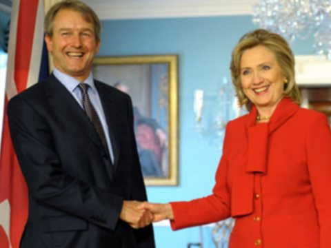 Owen Paterson meets Hillary Clinton. Photo: from owenpaterson.org.