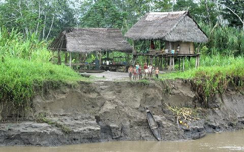 A typical riverside indigenous village in the Peruvian Amazon near Loreto. Photo: Thomas Stromberg via Flickr.