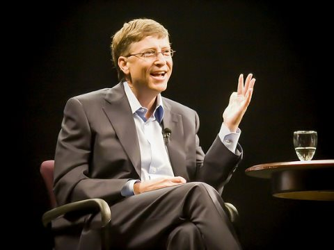 Bill Gates speaking at Stanford University. Photo: Thomas Hawk via Flickr.