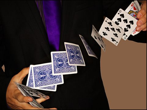 Watch the lady! Rich country negotiators are trying to pull their own version of the three card trick on developing countries at COP20 in Lima. Photo: Steven Tyrie via Flickr.