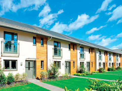 A 'net zero carbon' development of 780 homes at Graylingwell Park, Chichester, with a centralised gas-fired combined heat and power (CHP) system run by an independent energy services company. Photo: Zero Carbon Hub.