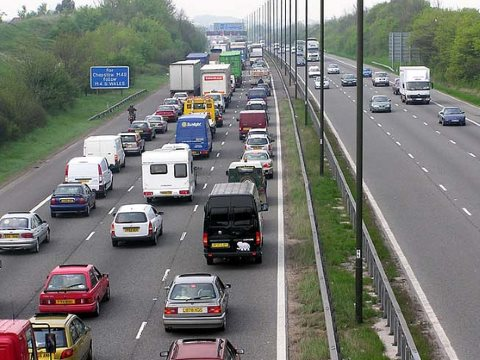 More roads, more traffic, more tailbacks, more misery. The M5 near Bristol. Photo: Paul Townsend via Flickr.
