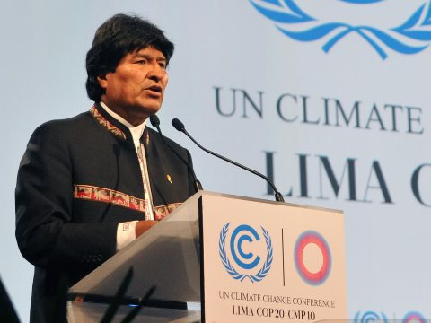 Bolivian president Evo Morales referred to industrialised nations that have appropriated more than their own fair share of global atmospheric space as