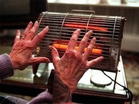Reduced to one meagre bar of an electric fire, an old lady fights to keep warm in Perth, Scotland. Meanwhile Centrica's CEO rakes in £3.7 million a year. Photo: Ninian Reid via Flickr.