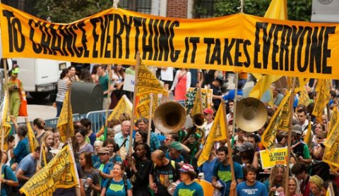 Looks like they got it right: the 2014 People's Climate March in New York City. Photo: South Bend Voice via Flickr, CC BY-SA 2.0.