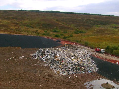 A new landfill site opens for business, Scotland. Photo: London Permaculture via Flickr (CC BY-NC-SA 2.0).