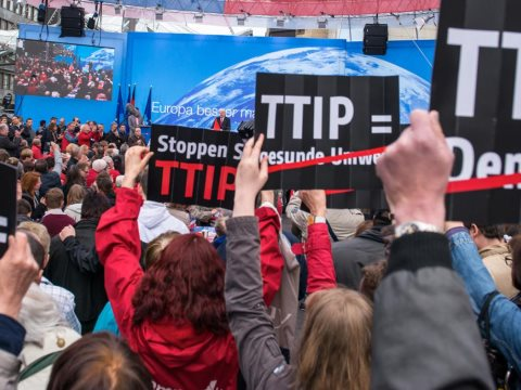 Stop TTIP demonstration in Germany. Photo: via openDemocracy.