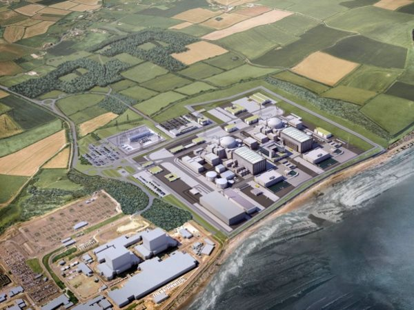 Low carbon? No way! The planned Hinkley Point C nuclear power station would have carbon emissions well above the Climate Change Committee's recommended limit for new power generation. Picture: HayesDavidson.