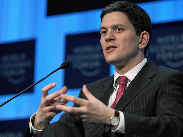 How much is his speech really worth? David Miliband at the World Economic Forum Annual Meeting Davos 2008. Photo: World Economic Forum via Wikimedia Commons.
