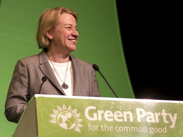 Natalie Bennett, Green Party leader, addressing her party's spring conference. Photo: Daniel Tierney /  Green Party of England & Wales.