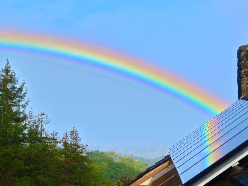 What lies over the rainbow is not a 100 billion barrels of oil, but a green and prosperous future of decentralised renewable energy. Photo: Steve Jurvetson via Flickr (CC BY).