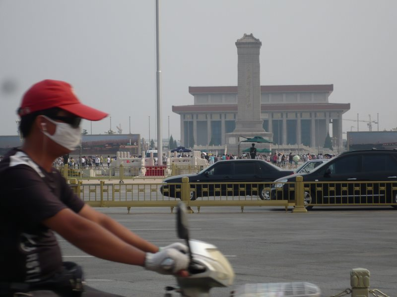 Cycling in Beijing. Photo: Thembi Mutch.