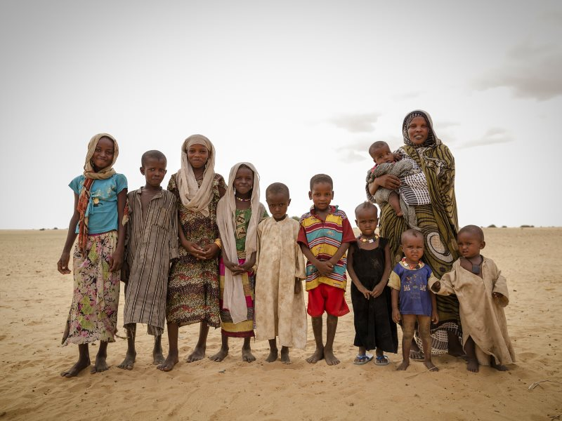 Achta and her family fled drought in Northern Chad after drought killed all their animals: goats, sheep, camels and cattle. Photo: © World Food Programme / Chris Terry, supported by the EU, via Flickr (CC NY-NC-ND).