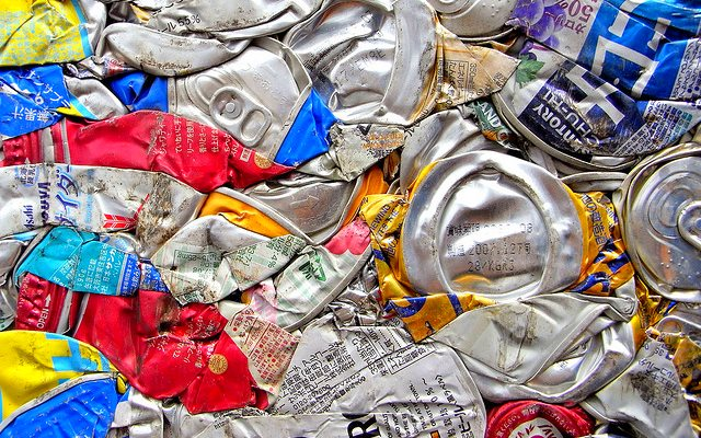 Aluminum - the metal these cans are made of - could soon be powering our batteries, and propelling the renewable energy revolution forward. Photo:Ishikawa Ken via Flickr (CC BY-SA).