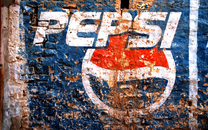 Is the Pepsi brand getting tarnished? Pepsi sign in Rajasthan, India, by Matthew Stevens via Flickr (CC BY-NC-ND).