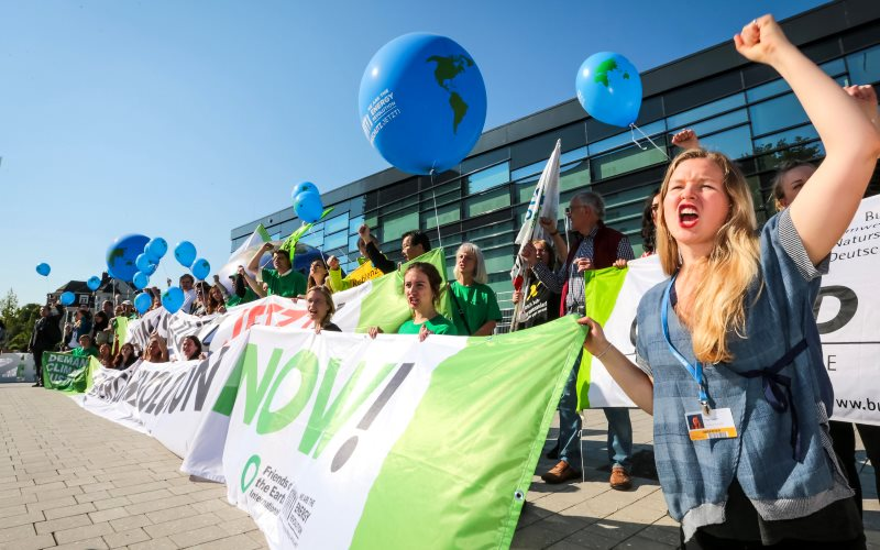 Friends of the Earth supporters protesting at the UNFCCC climate talks in Bonn today, denouncing the lack of progress. Photo: Friends of the Earth Europe via Flickr (All rights reserved).