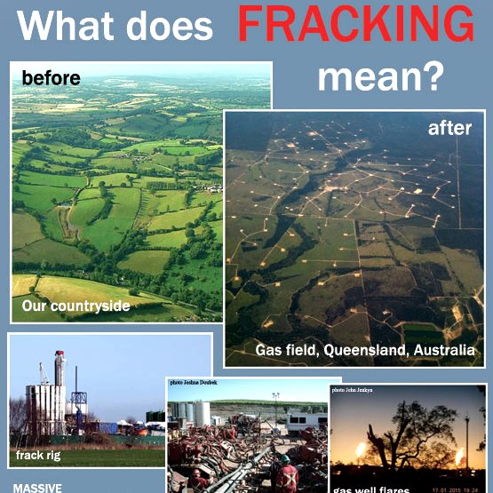Realities of Fracking page 1 (cut). Image: Toxin Free Community.