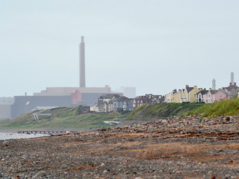 The Sellafield nuclear reprocessing site from Drigg Beach, Cumbria, UK. Photo: Ashley Coates via Flickr (CC BY-SA).