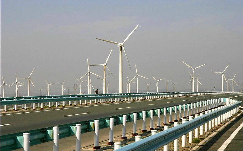 China has chosen its energy future - and it will be renewable. A huge windfarm in Xinjiang. Photo: Mike Locke via Flickr (CC BY-ND).
